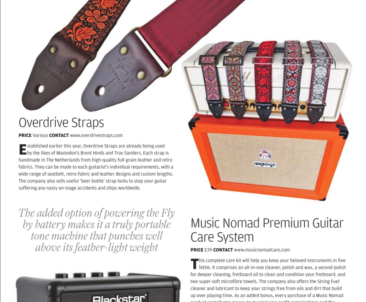 Overdrive Straps featured in Guitar Magazine UK!