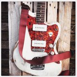 """Vino"" Bordeaux Red Seatbelt Overdrive Strap_"