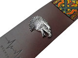 """Maya"" Full Leather Overdrive Strap - Eagle pin"