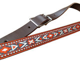 """Navajo"" Slim Full Leather Strap - Brown"
