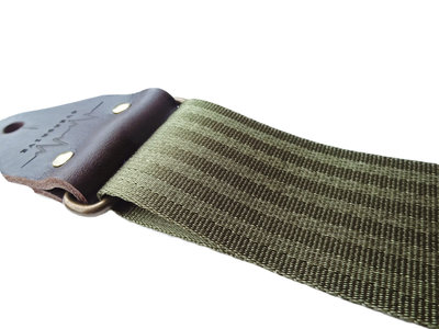 """Forest"" Green Seatbelt Overdrive Strap"