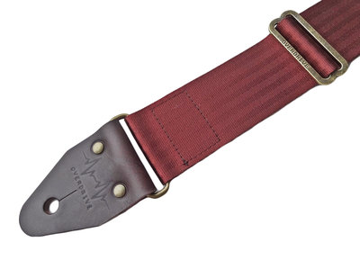 """Vino"" Bordeaux Red Seatbelt Overdrive Strap"