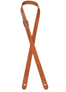 Cognac Slim Leather Overdrive Strap